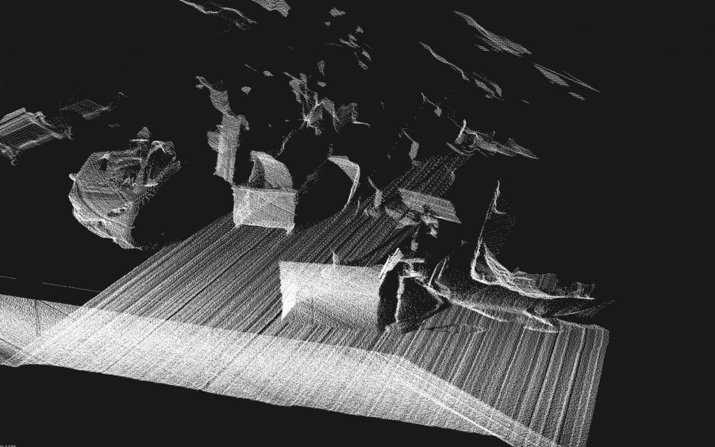 3D Punktewolke der Werkhalle