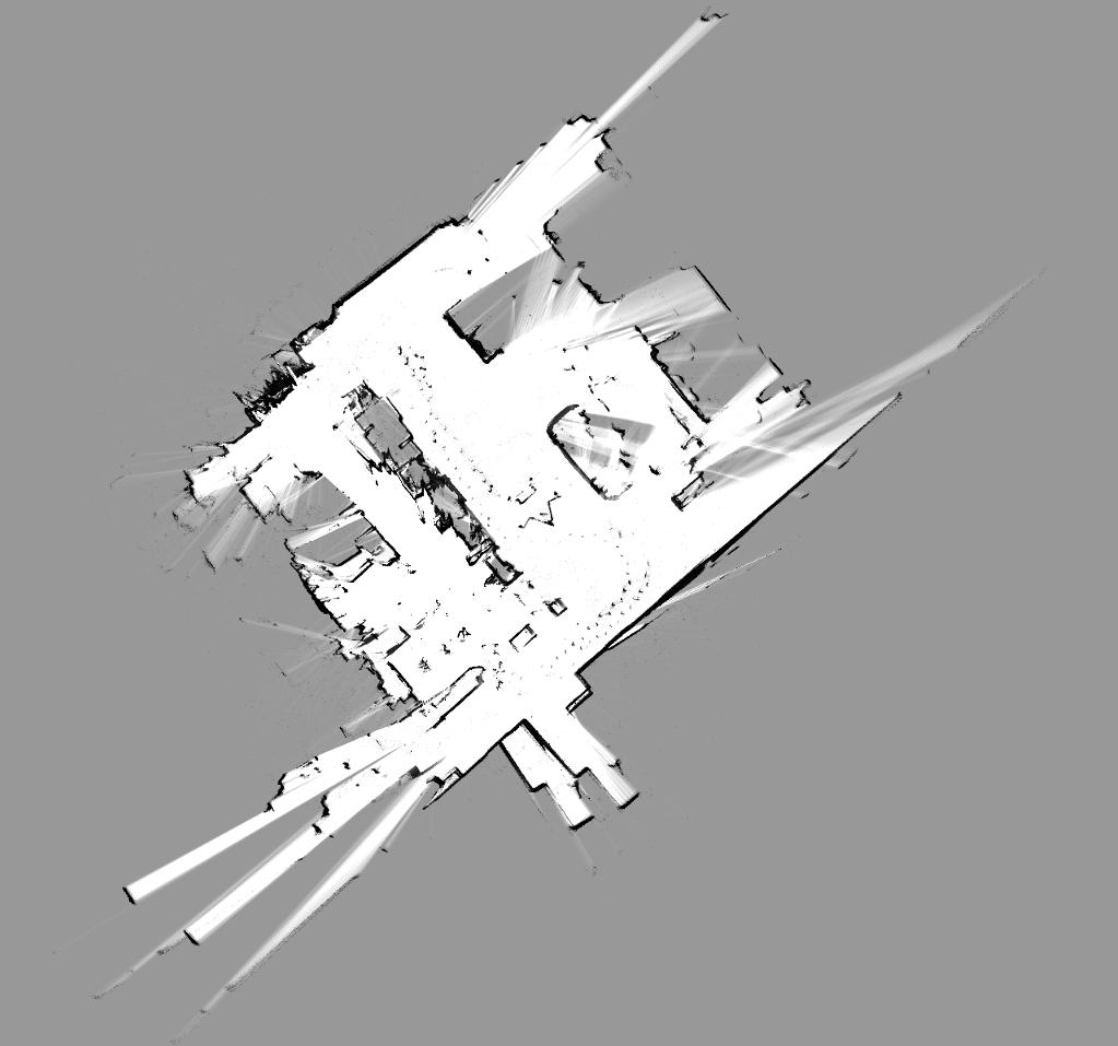 EKF-SLAM 2D Karte der Werkhalle
